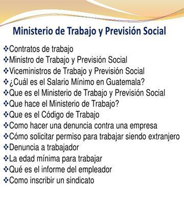 Ministerio de Trabajo y Previsión Social - foto 3